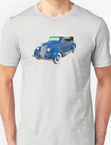 Blue 1936 Ford Phaeton Convertible Antique Car T-Shirt