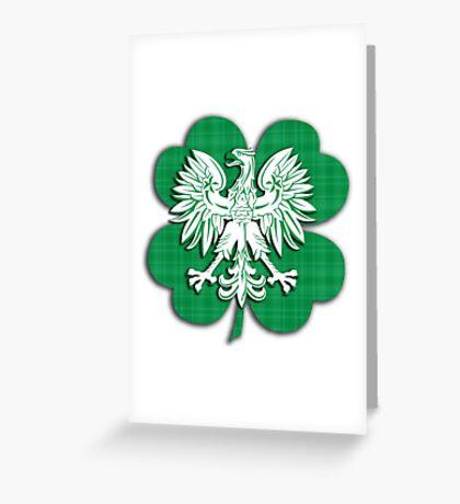 Irish Polish Shamrock Heritage  Greeting Card
