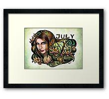 Brit of July Framed Print