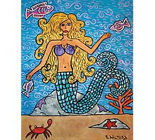Mermaid Under The Sea Photographic Print