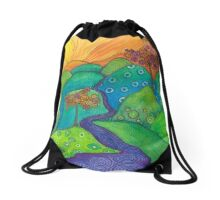 Waterfall of Hope Drawstring Bag