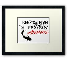 Keep The Fish Mr.Robot Framed Print