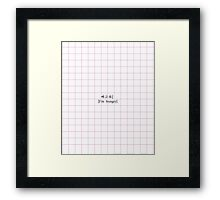 I'm hungry - korean Framed Print