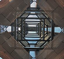 LOOKING UP INTO THE BELL TOWER by DRON
