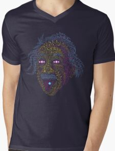 Acid Scientist tongue out psychedelic art poster Mens V-Neck T-Shirt