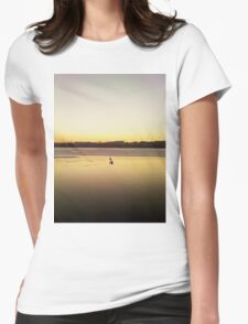lonely swan Womens Fitted T-Shirt