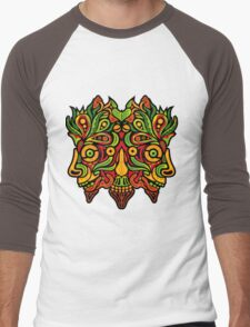 Psychedelic jungle demon Men's Baseball ¾ T-Shirt