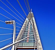 Bridge over river Danube by raba