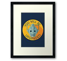 Doctor Who Cybermen You Will Be Upgraded Framed Print