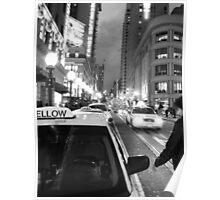Union Square at Night- SFO Poster