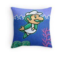 Luigi Swimmin' Throw Pillow