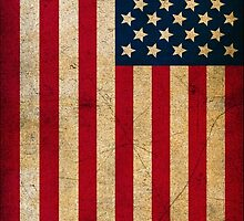 Vintage Grunge American Flag by sale