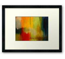 Density. 40 x 30. Acrylic Painting. Framed Print