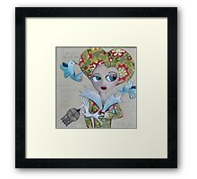 Who let the birds out? Framed Print