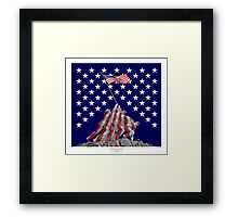 The Empire strikes back - Iwo Jima Framed Print