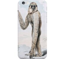 Long Armed Gibbon Ape Art iPhone Case/Skin