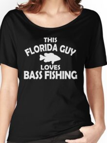 This Florida Guy Loves Bass Fishing Women's Relaxed Fit T-Shirt