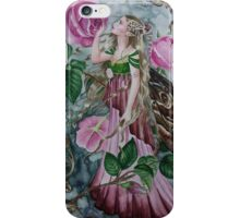 'Golden wings'pink rose fairy faerie butterfly  iPhone Case/Skin