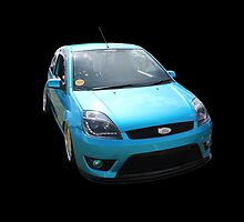 Blue Ford Fiesta by Vicki Spindler (VHS Photography)