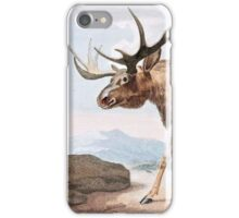 Bull Moose Vintage Drawing iPhone Case/Skin