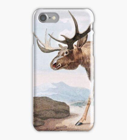 Bull Moose Vintage Drawing iPhone Case/Skin