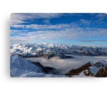 Winter on Kitzsteinhorn 77 Canvas Print
