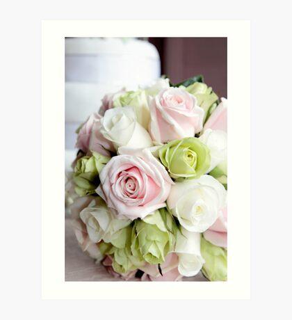 Bridal Bouquet Art Print