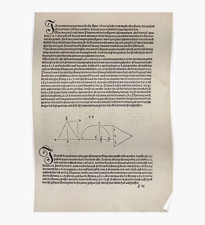 Measurement With Compass Line Leveling Albrecht Dürer or Durer 1525 0071 Repeating Shapes Poster