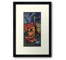 Red Ti Framed Print