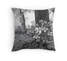 Into The Woods - Inkt Pen Drawing Throw Pillow