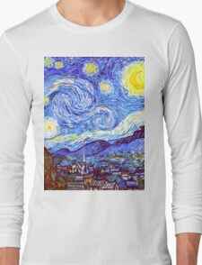 The Starry Night HDR Long Sleeve T-Shirt