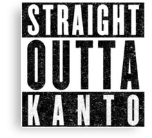 Trainer with Attitude: Kanto Canvas Print