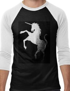 Silver Unicorn tee Men's Baseball ¾ T-Shirt