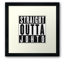 Trainer with Attitude: Johto Framed Print