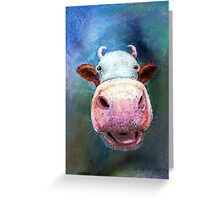 Colorful Cow Greeting Card