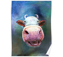Colorful Cow Poster