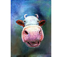 Colorful Cow Photographic Print