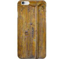 Medieval Wooden Door on Stone Castle, FRANCE iPhone Case/Skin