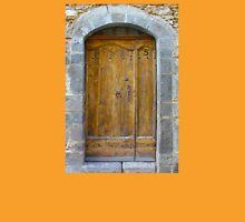 Medieval Wooden Door on Stone Castle, FRANCE Unisex T-Shirt