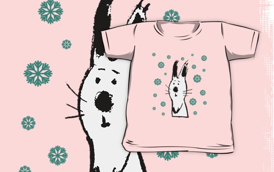 Snow Rabbit (Tee) by Carla Martell