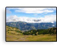 Pra loup in Alps Canvas Print