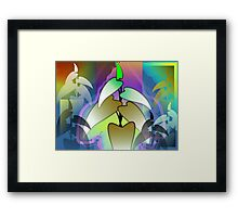 Abstract painting of plants	 Framed Print