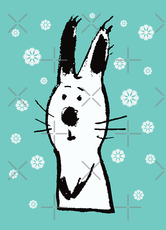 Snow Rabbit by Carla Martell