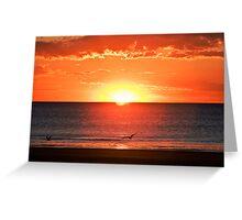 Sunset, Broome, Western Australia Greeting Card