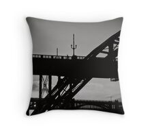 Shadow of a day worked Throw Pillow