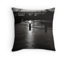 Golden pathways revealed Throw Pillow