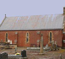Anglican Church St. Johns, Plenty, Tasmania 1852 by PaulWJewell