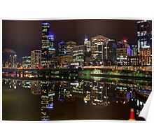 Cityscape Reflections Poster