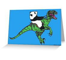 Jurassic panda logo Greeting Card