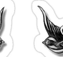 Harry's birds tattoos Sticker